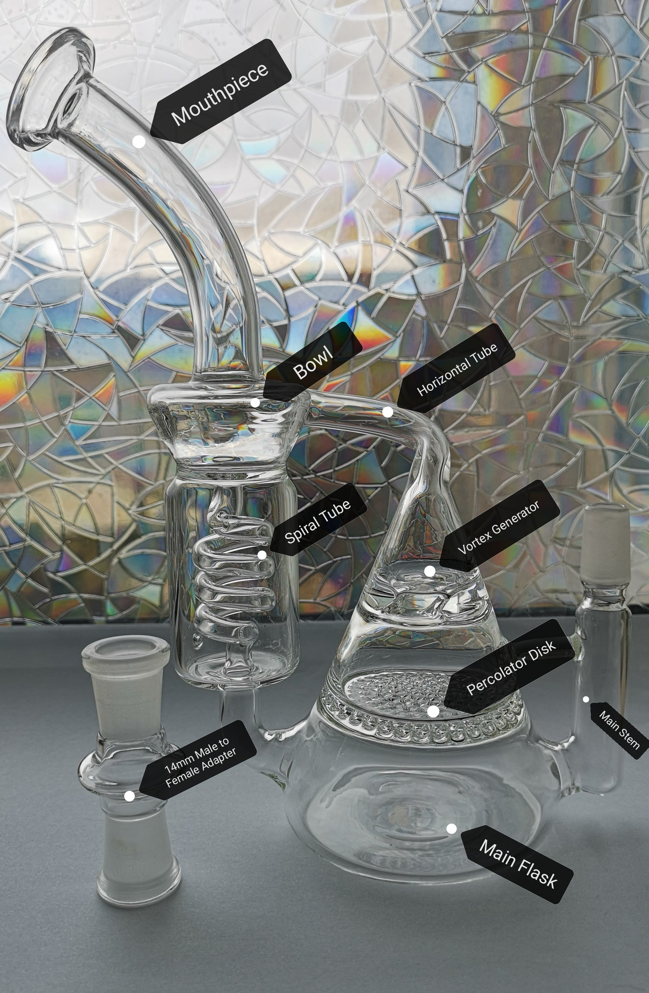 Percolating Vortex Recycling Rig (Vortex Perc Recycler) Labelled imgae
