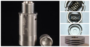 HVT Sai TAF Atomizer pictured with some of the best coils and the heat sink. RecVapeS