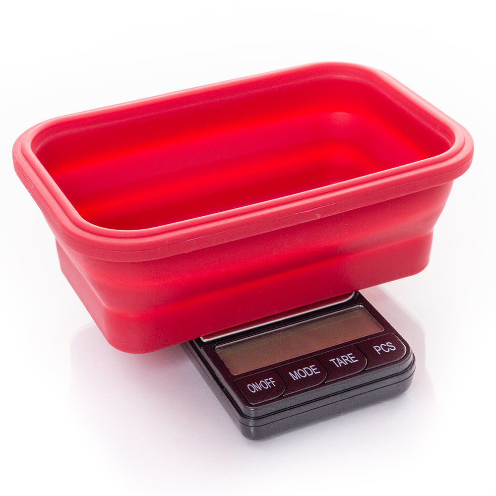 Omega collapsible bowl digital scales in Black 0.1g -1000g