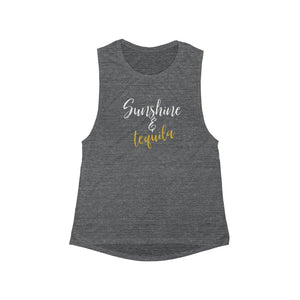 Sunshine & Tequila Women's Flowy Scoop Muscle Tank