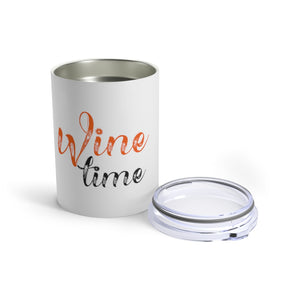 Wine Time (orange and black) Tumbler 10oz