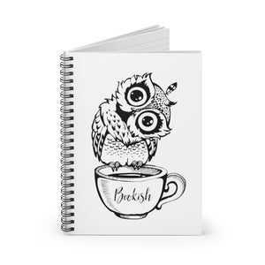 Bookish Owl Spiral Notebook - Ruled Line