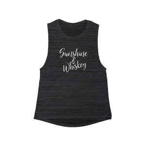 Sunshine & whiskey Women's Flowy Scoop Muscle Tank