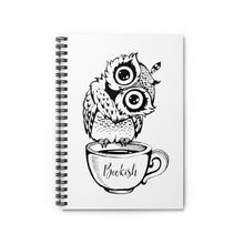 Load image into Gallery viewer, Bookish Owl Spiral Notebook - Ruled Line