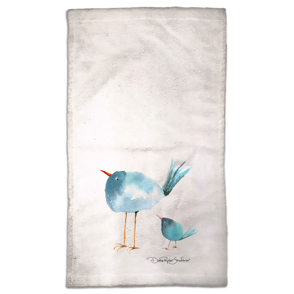 Momma & Baby Blue Towel