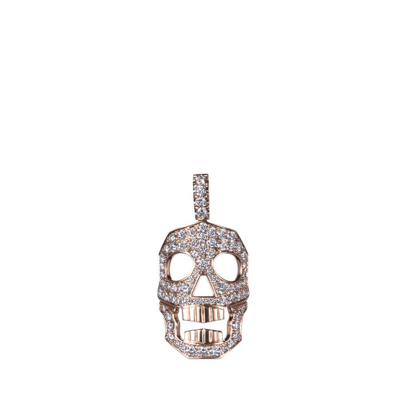 DIAMOND SKULL PENDANT ONLY - MED