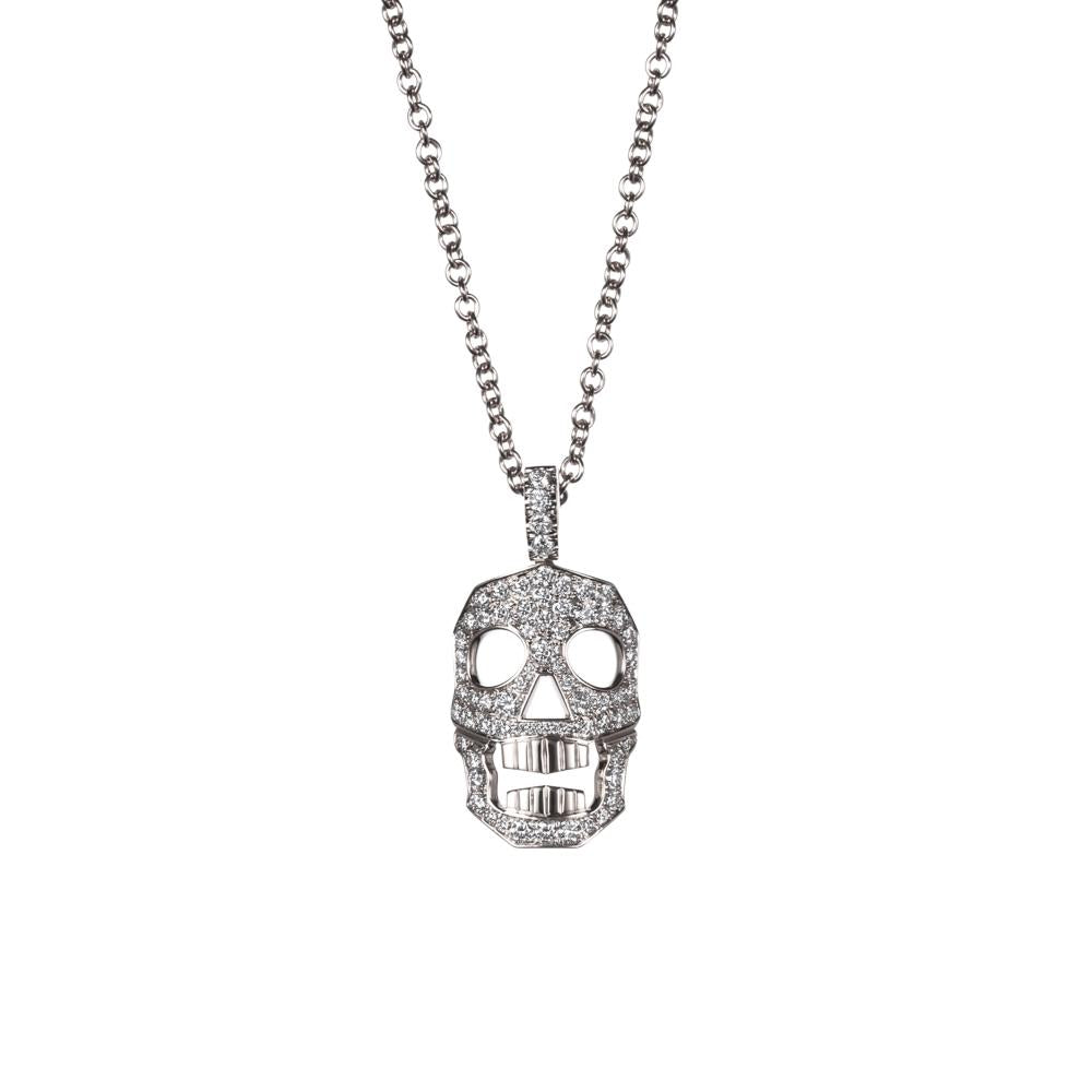 DIAMOND SKULL NECKLACE - SMALL