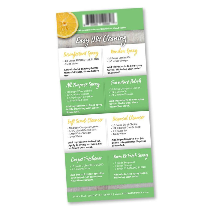 Cleaning With Essential Oils Education Cards
