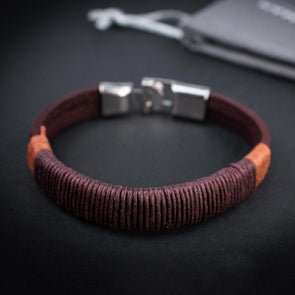 The Reveler Brown Hemp Bracelet
