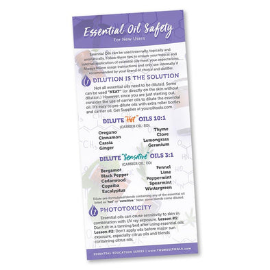 Essential Oil Safety Education Card