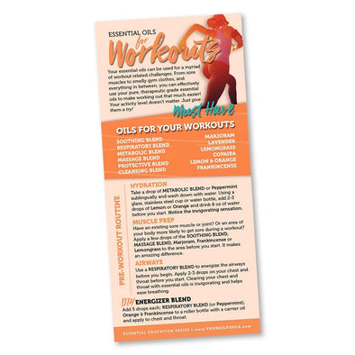 Essential Oils for Workouts Education Card
