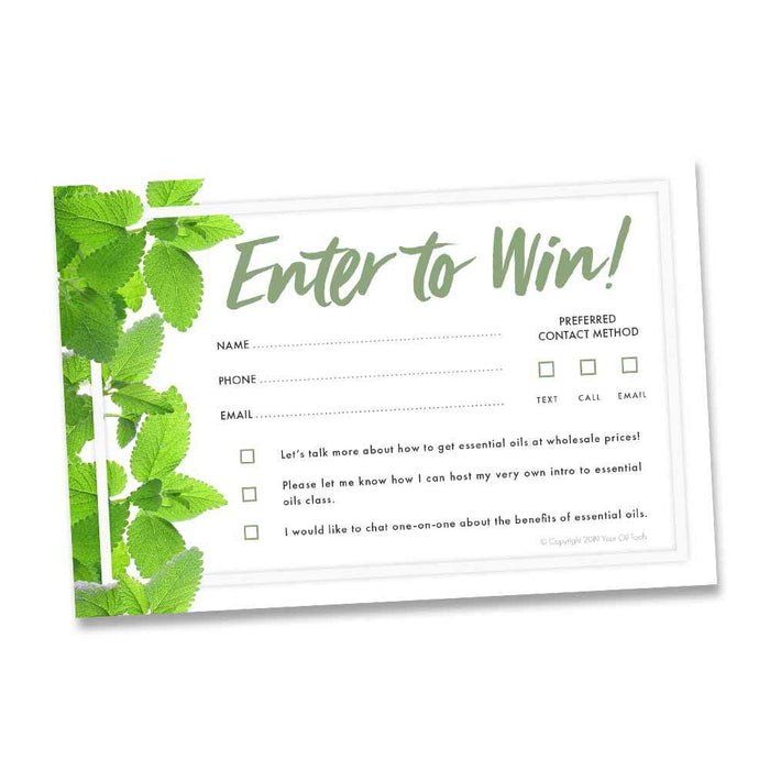 New Enter to Win Tear Pad