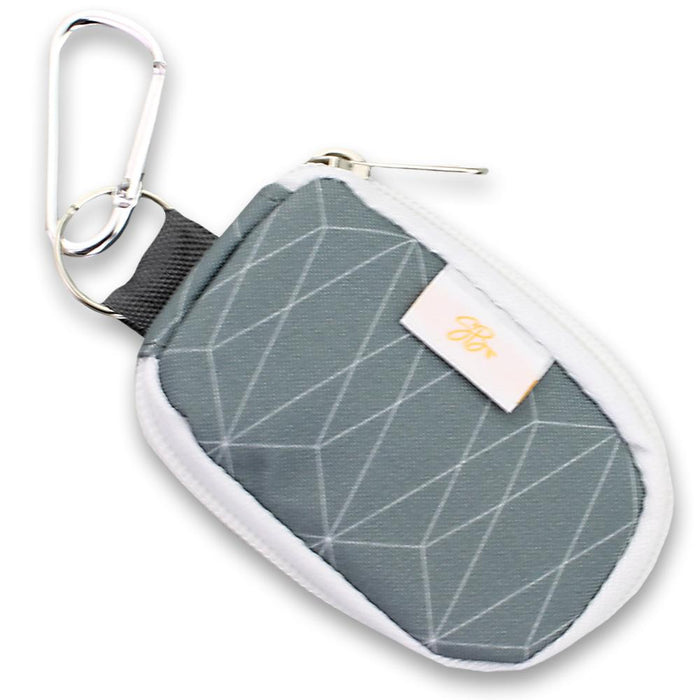 SB Keychain 8 Oil Grey Geometric