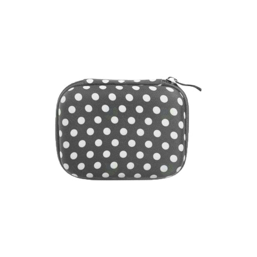 Roller Bottle Hard Shell Case (Gray Polka Dots) - Your Oil Tools
