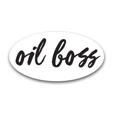 Oil Boss Oval Label (Sold Individually)