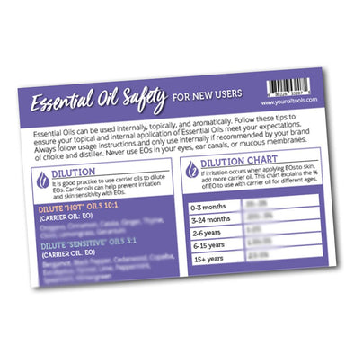 Essential Oil Safety Mini Tear pad