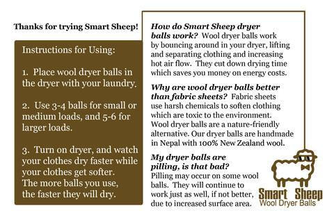 Dryer Balls by Smart Sheep (New Zealand Wool) - roller bottles - 5