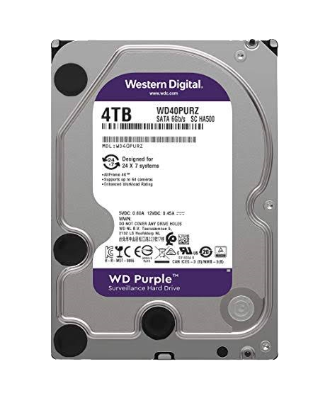 "WD 3.5"" WD40PURZ 4TB HDD Purple"