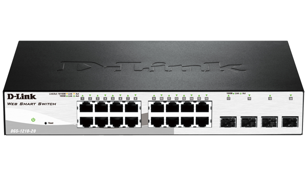 D-Link DGS-1210-20 Layer 2 Smart Managed Gigabit Switch
