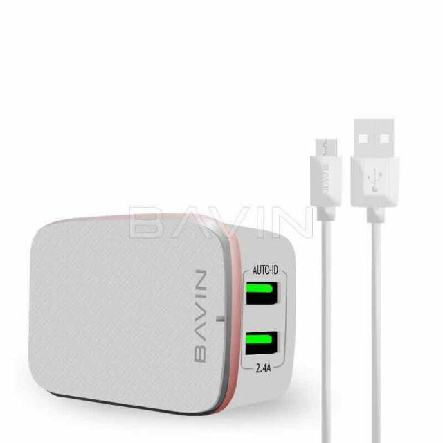 Bavin C-A2204 2 USB Port 2.4A.Multi Fast Charger