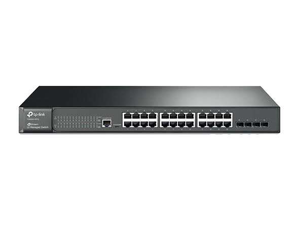 TP-Link 24-Port Gigabit L2 Managed Switch (T2600G-28TS)