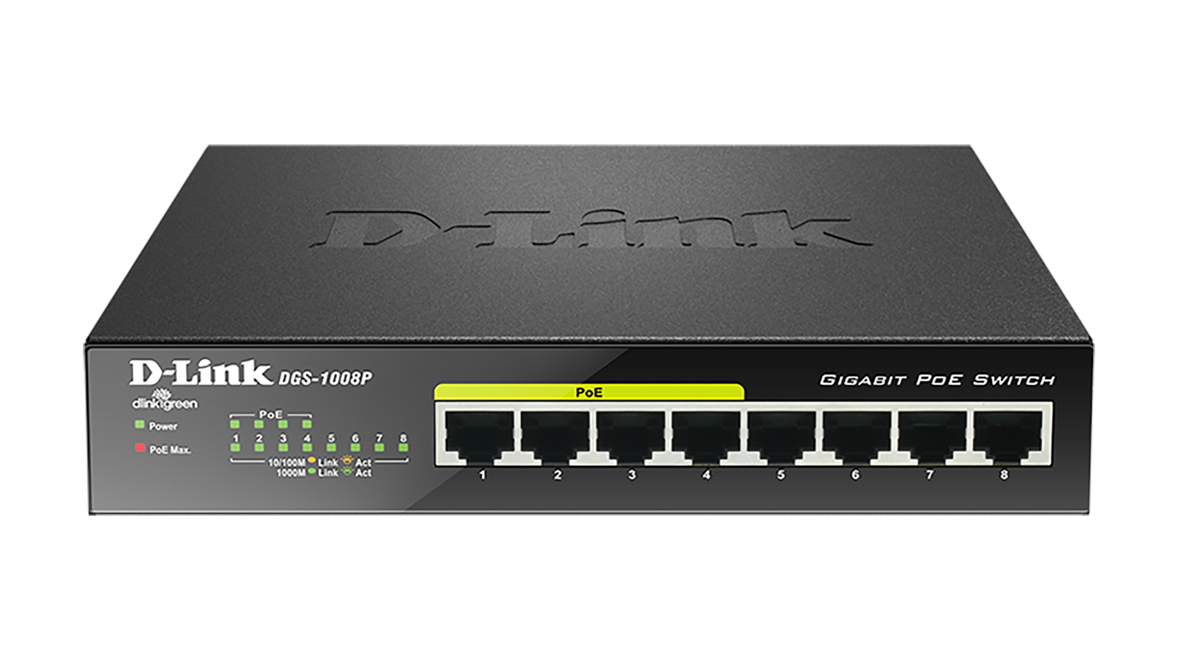 D-Link DGS-1008P/E POE Unmanaged Gigabit Switch