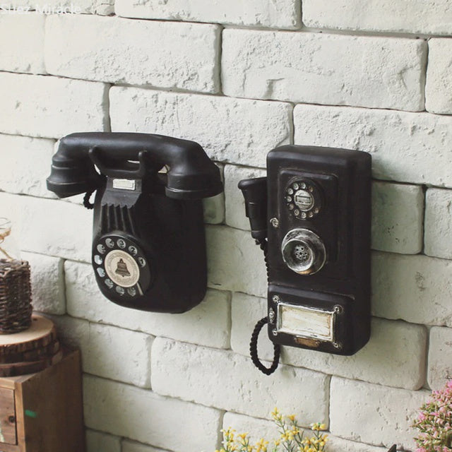 Loft Cool Vintage Wall Hanging Phone