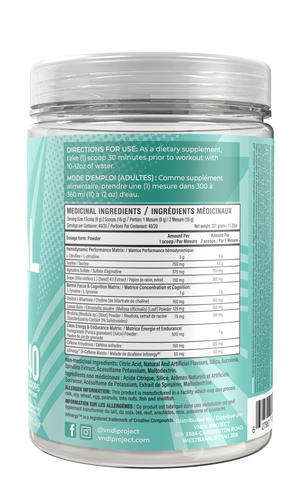 VANDAL New Zealand Kiwi – Supplement Facts