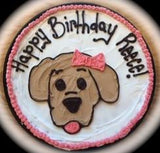 Large Birthday Cookie with Puppy