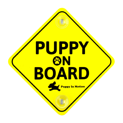 Puppy On Board Car Sign