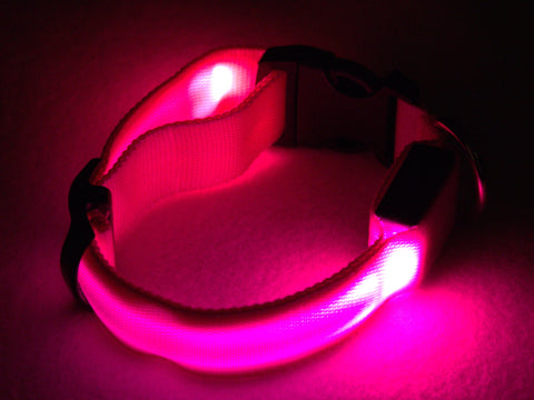 Collar: Pink LED Light Up