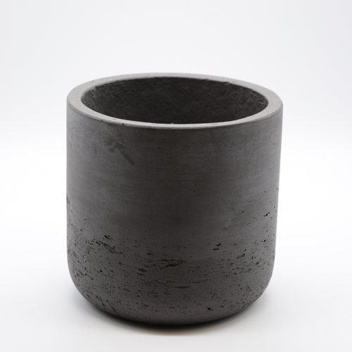 black fiberglass combined with cement pot