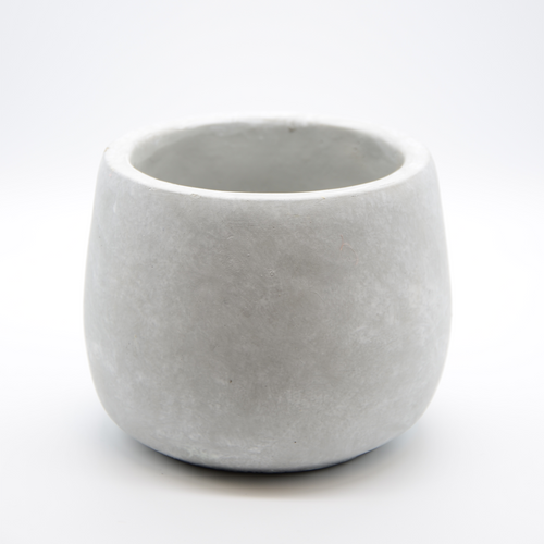 small cement fishbowl vase pot