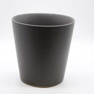 Dark Grey Ceramic Tapered Cylinder