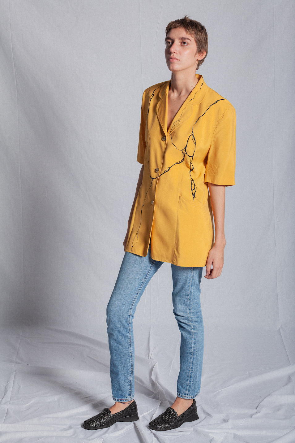 OVERSIZED ORANGINA SHORT SLEEVES BLAZER