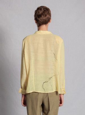 PALE YELLOW SHEER BLOUSE