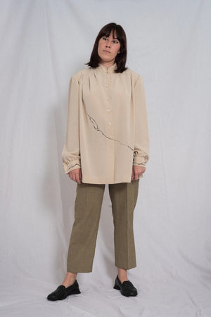 LIGHT BROWN MAO SHIRT