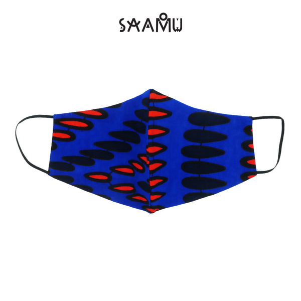 SAAMU PM2.5 COTTON MASK - Rain Drop Print