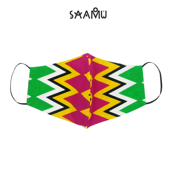 SAAMU PM2.5 COTTON MASK - Zigzag Print