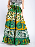 Long Flare Skirt Sajah Green