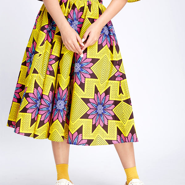 Middle Flare Skirt (xmas yellow)