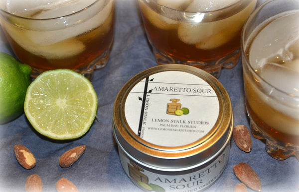Amaretto Sour Candle Top