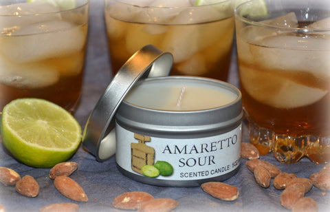 Amaretto Sour Candle Open