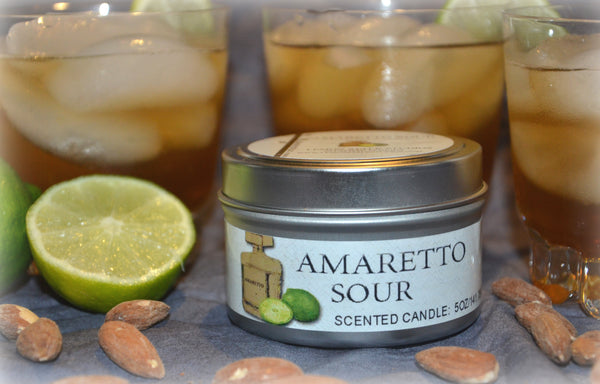 Amaretto Sour Candle Side