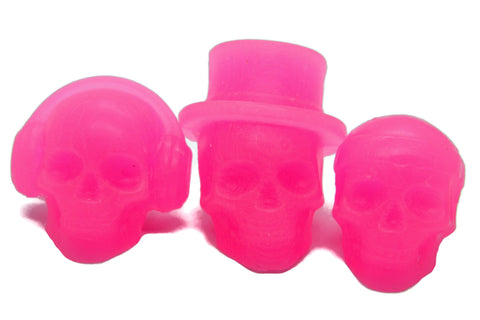 "Pink Skull Wax Melts - ""Cotton Candy Sugar High"" Fragrance"