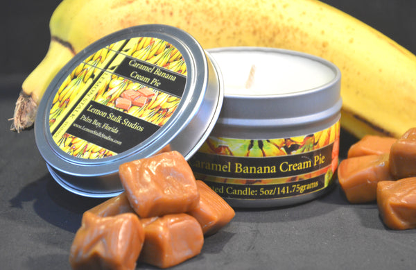5oz Caramel Banana Cream Pie Candle