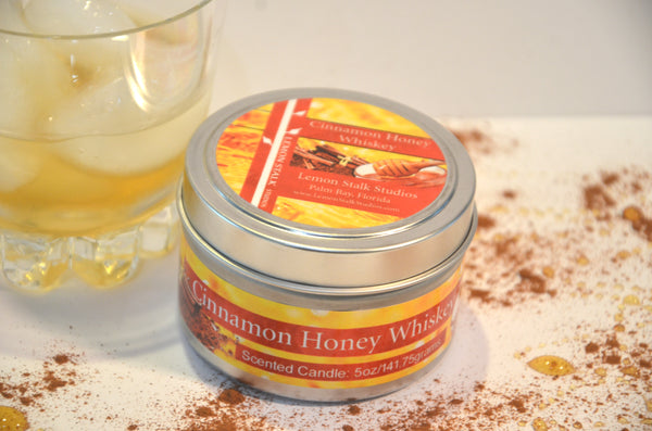 5oz Cinnamon Honey Whiskey Candle