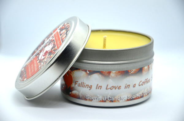 Coffee Scented Candle Open