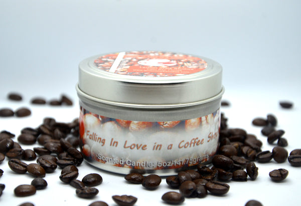 Coffee Scented Candle with Beans
