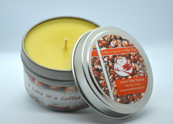 Coffee Scented Candle Open Top